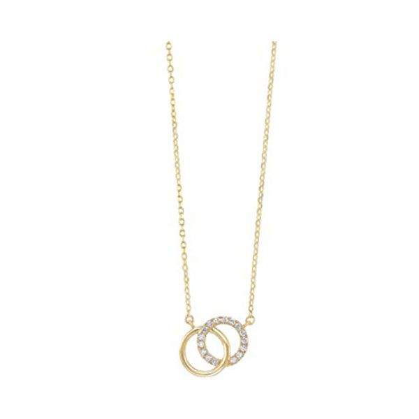 Diamond Double Eternity Circle Necklace SVS Fine Jewelry Oceanside, NY