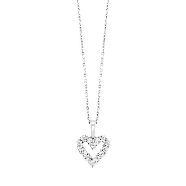 Diamond Heart Necklace SVS Fine Jewelry Oceanside, NY