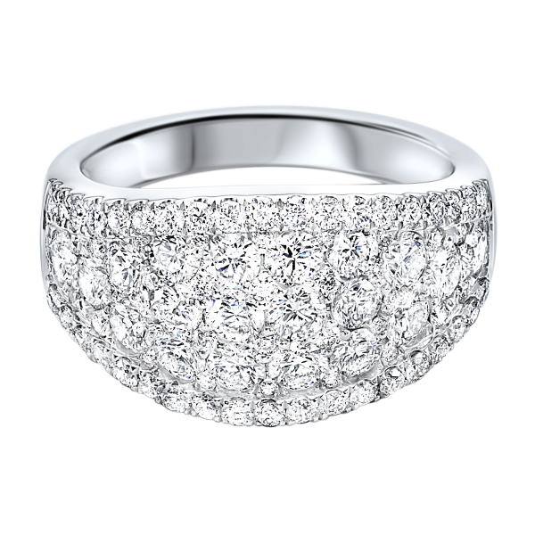 Diamond French Pave Tapered Ring SVS Fine Jewelry Oceanside, NY