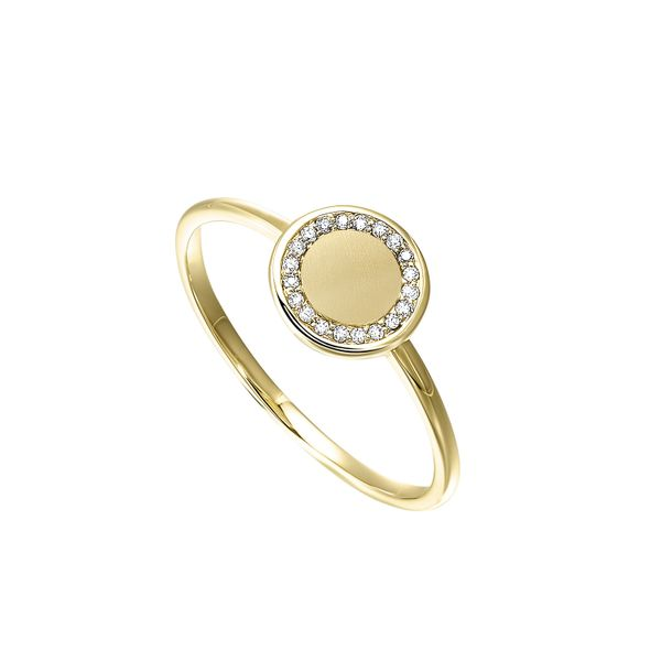 Diamond Eternity Halo Button Ring SVS Fine Jewelry Oceanside, NY