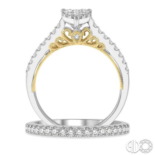 1 Ctw Diamond Lovebright Wedding Set with 3/4 Ctw Pear Shape Engagement Ring in White and Yellow Gold and 1/4 Ctw Wedding Band i Image 3 Trinity Diamonds Inc. Tucson, AZ