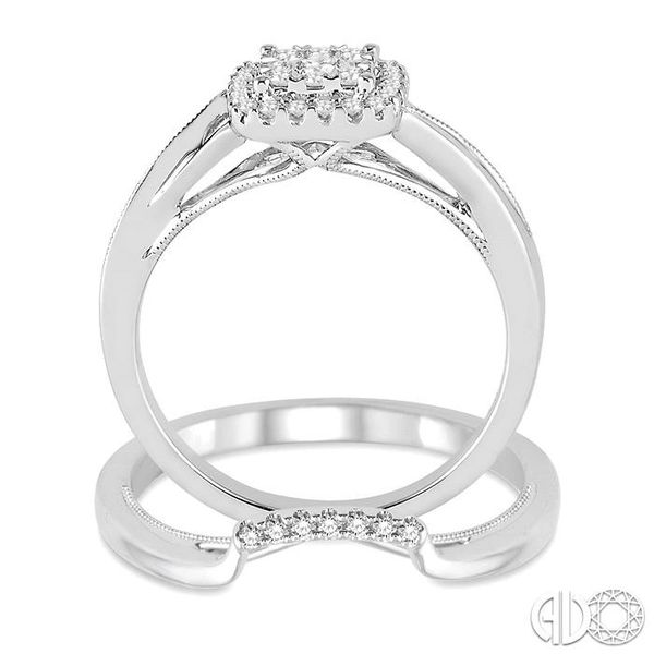 3/8 Ctw Diamond Lovebright Wedding Set with 1/3 Ctw Engagement Ring and 1/20 Ctw Wedding Band in 14K White Gold Image 3 Trinity Diamonds Inc. Tucson, AZ