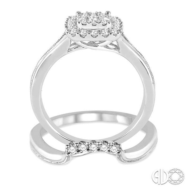 1/2 Ctw Diamond Lovebright Wedding Set with 1/2 Ctw Engagement Ring and 1/20 Ctw Wedding Band in 14K White Gold Image 3 Trinity Diamonds Inc. Tucson, AZ
