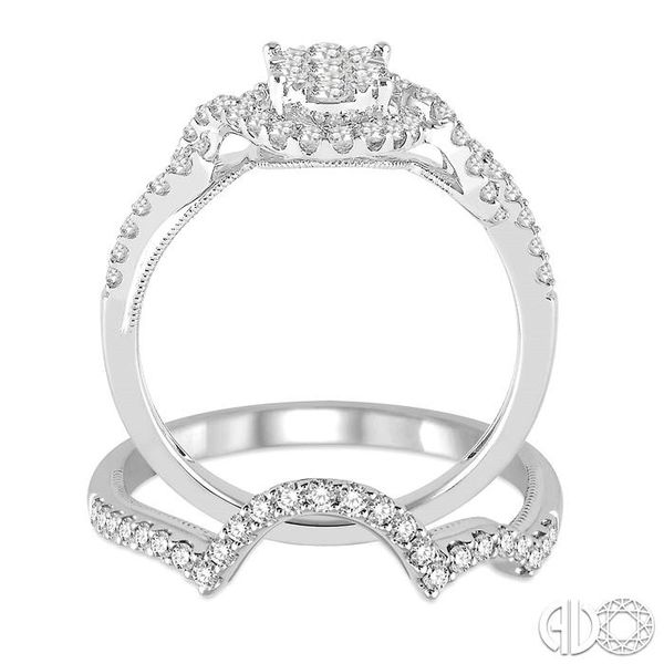 3/4 Ctw Diamond Lovebright Wedding Set with 5/8 Ctw Engagement Ring and 1/6 Ctw Wedding Band in 14K White Gold Image 3 Trinity Diamonds Inc. Tucson, AZ