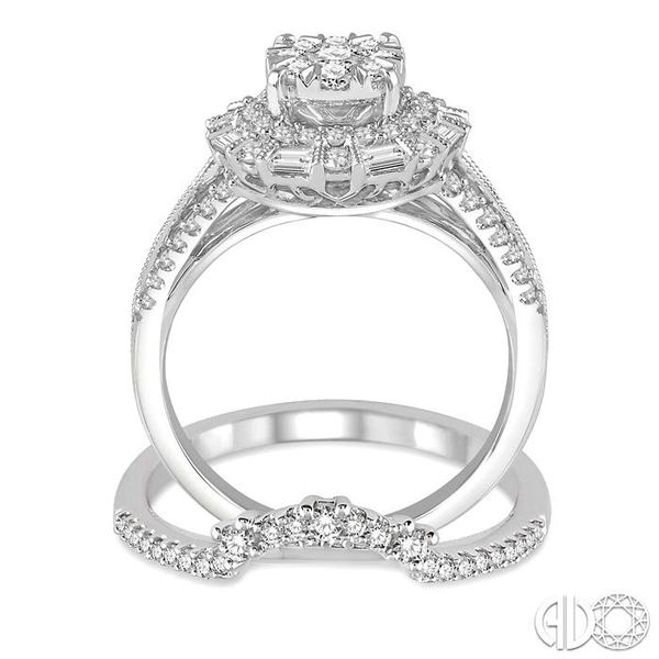 1 1/3 Ctw Diamond Lovebright Wedding Set With 1 1/10 Ctw Engagement Ring and 1/5 Ctw Wedding Band in 14K White Gold Image 3 Trinity Diamonds Inc. Tucson, AZ