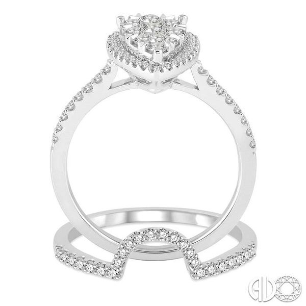 3/4 Ctw Diamond Lovebright Wedding Set with 1/2 Ctw Engagement Ring and 1/5 Ctw Wedding Band in 14K White Gold Image 3 Trinity Diamonds Inc. Tucson, AZ