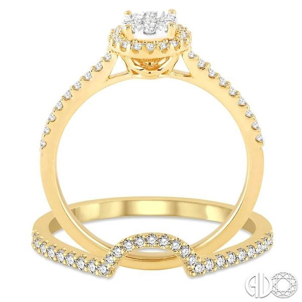 1/2 Ctw Round Shape Diamond Lovebright Wedding Set with 1/3 Ctw Engagement Ring and 1/6 Ctw Wedding Band in 14K Yellow and White Image 3 Trinity Diamonds Inc. Tucson, AZ