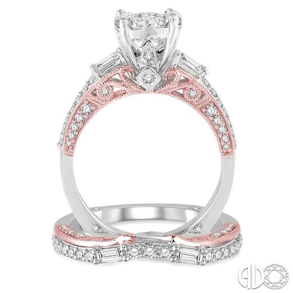 1 1/3 Ctw Diamond Lovebright Wedding Set with 1 Ctw Engagement Ring inRose & White Gold and 1/3 Ctw Wedding Band inRose Gold in  Image 3 Trinity Diamonds Inc. Tucson, AZ