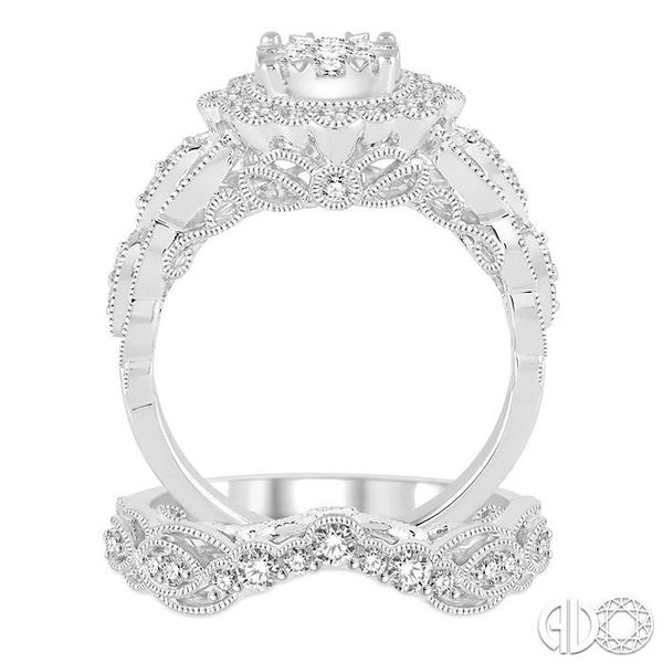 1 1/6 Ctw Diamond Lovebright Wedding Set with 7/8 Ctw Engagement Ring and 1/4 Ctw Wedding Band in 14K White Gold Image 3 Trinity Diamonds Inc. Tucson, AZ