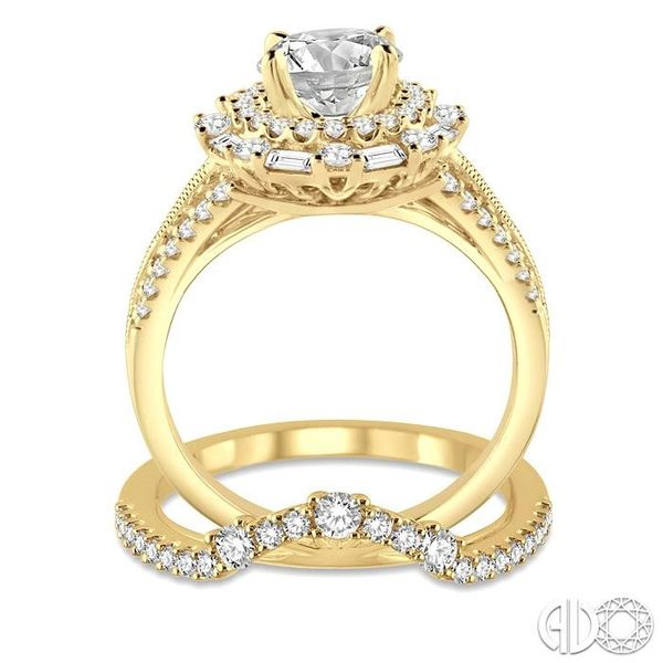 1 1/2 Ctw Diamond Wedding Set with 1 1/3 Ctw Round Cut Engagement Ring and 1/5 Ctw Wedding Band in 14K Yellow Gold Image 3 Trinity Diamonds Inc. Tucson, AZ