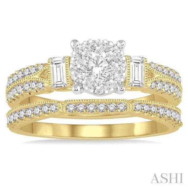 1 Ctw Diamond Lovebright Bridal Set with 3/4 Ctw Engagement Ring and 1/5 Ctw Wedding Band in 14K Yellow and White Gold Image 2 Trinity Diamonds Inc. Tucson, AZ