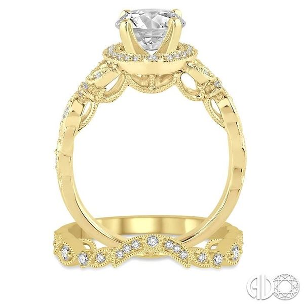 3/4 Ctw Diamond Bridal Set with 5/8 Ctw Round Cut Engagement Ring and 1/10 Ctw Wedding Band in 14K Yellow Gold Image 3 Trinity Diamonds Inc. Tucson, AZ
