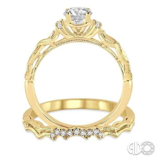 3/8 Ctw Diamond Wedding Set with 1/3 Ctw Round Cut Engagement Ring and 1/20 Ctw Wedding Band in 14K Yellow Gold Image 3 Trinity Diamonds Inc. Tucson, AZ