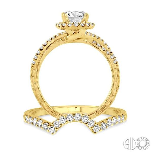 1 1/10 Ctw Diamond Wedding Set with 7/8 Ctw Round Cut Engagement Ring and 1/4 Ctw Wedding Band in 14K Yellow Gold Image 3 Trinity Diamonds Inc. Tucson, AZ