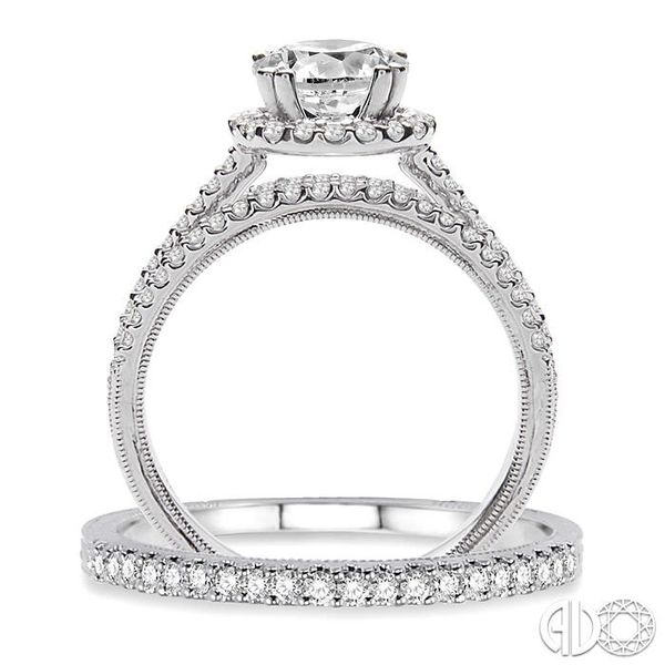 1 1/3 Ctw Diamond Wedding Set with 1 1/6 Ctw Round Cut Engagement Ring and 1/6 Ctw Wedding Band in 14K White Gold Image 3 Trinity Diamonds Inc. Tucson, AZ