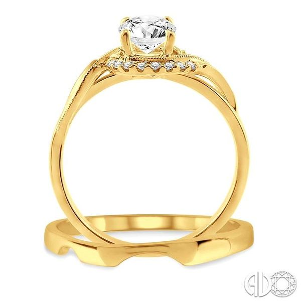 1/3 Ctw Diamond Wedding Set with 1/3 Ctw Round Cut Engagement Ring and Wedding Band in 14K Yellow Gold Image 3 Trinity Diamonds Inc. Tucson, AZ
