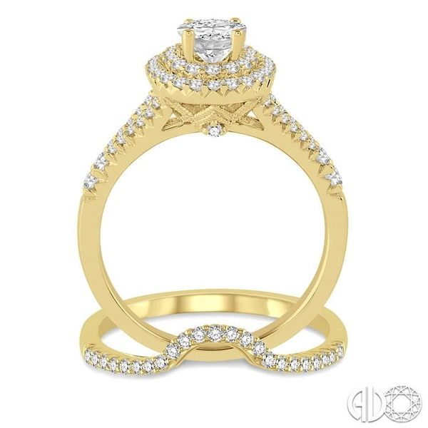 1 1/6 Ctw Diamond Bridal Set with 1 Ctw Oval Cut Engagement Ring and 1/6 Ctw Wedding Band in 14K Yellow Gold Image 3 Trinity Diamonds Inc. Tucson, AZ