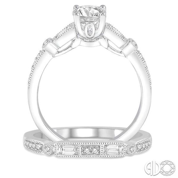 3/4 Ctw Diamond Bridal Set with 5/8 Ctw Round Cut Engagement Ring and 1/5 Ctw Wedding Band in 14K White Gold Image 3 Trinity Diamonds Inc. Tucson, AZ