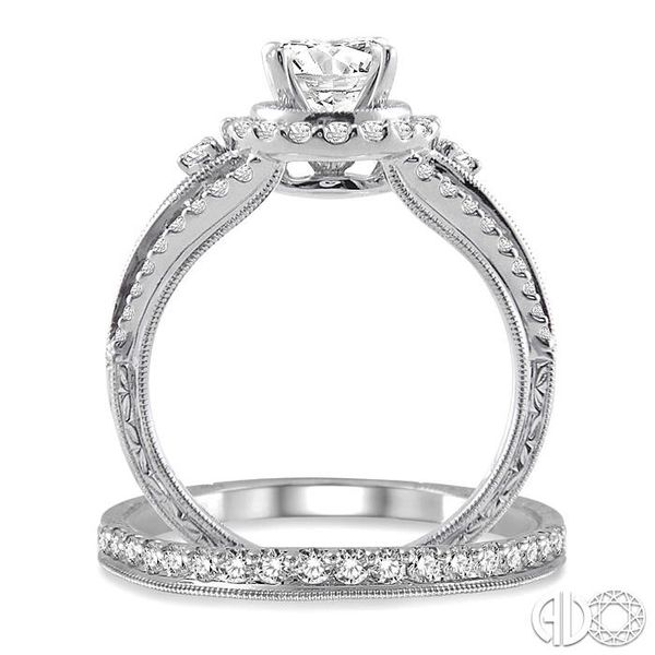 1 1/4 Ctw Diamond Wedding Set with 1 Ctw Round Cut Engagement Ring and 1/4 Ctw Wedding Band in 14K White Gold Image 3 Trinity Diamonds Inc. Tucson, AZ