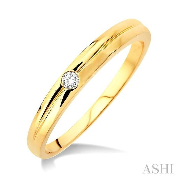 1/50 Ctw Round Cut Diamond Stack Ring in 14K Yellow Gold Trinity Diamonds Inc. Tucson, AZ