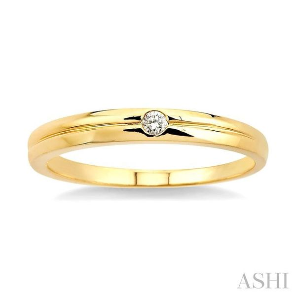 1/50 Ctw Round Cut Diamond Stack Ring in 14K Yellow Gold Image 2 Trinity Diamonds Inc. Tucson, AZ