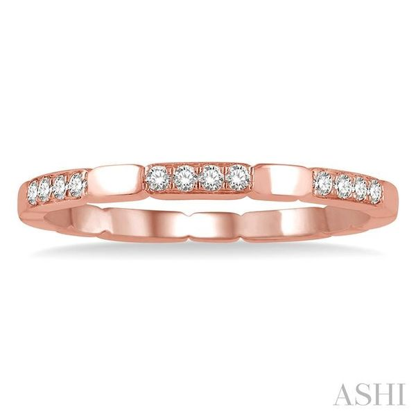 1/10 ctw Round Cut Diamond Block Stackable Ring in 14K Rose Gold Image 2 Trinity Diamonds Inc. Tucson, AZ
