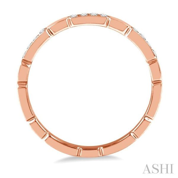 1/10 ctw Round Cut Diamond Block Stackable Ring in 14K Rose Gold Image 3 Trinity Diamonds Inc. Tucson, AZ