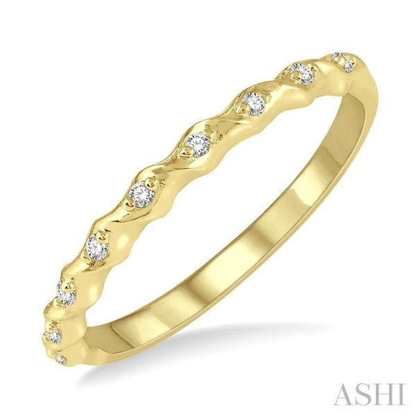 1/20 ctw Spiral Shank Round Cut Diamond Stackable Band in 14K Yellow Gold Trinity Diamonds Inc. Tucson, AZ