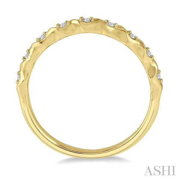 1/20 ctw Spiral Shank Round Cut Diamond Stackable Band in 14K Yellow Gold Image 3 Trinity Diamonds Inc. Tucson, AZ