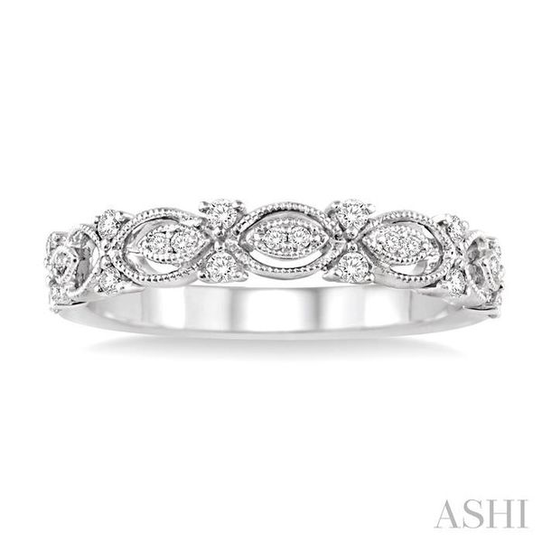 1/6 Ctw Round Diamond Wedding Band with in 14K White Gold Image 2 Trinity Diamonds Inc. Tucson, AZ