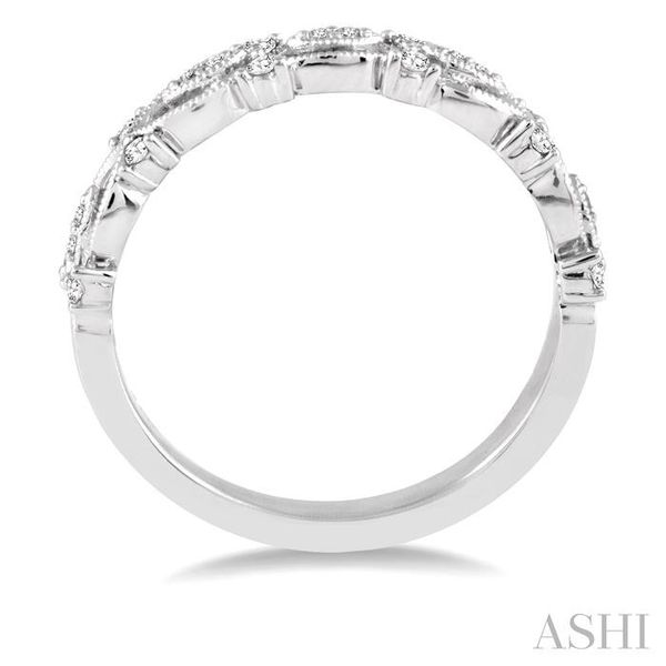 1/6 Ctw Round Diamond Wedding Band with in 14K White Gold Image 3 Trinity Diamonds Inc. Tucson, AZ