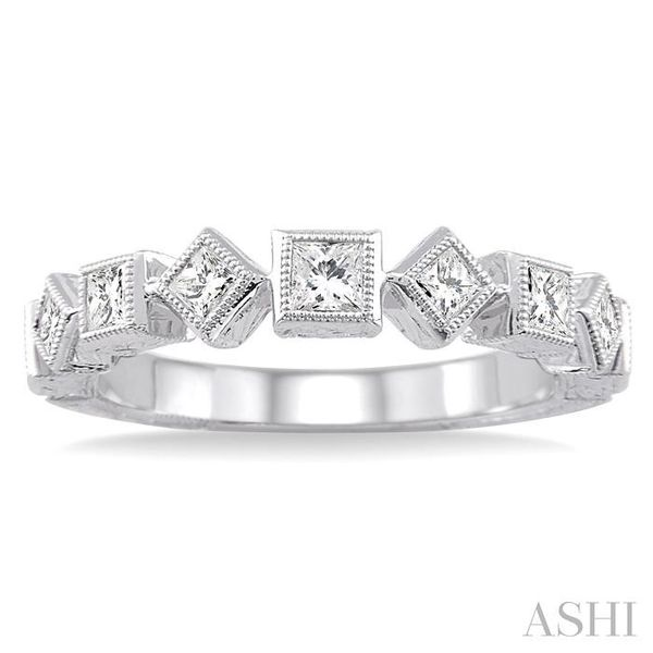 1/2 Ctw Diamond Fashion Band in 14K White Gold Image 2 Trinity Diamonds Inc. Tucson, AZ