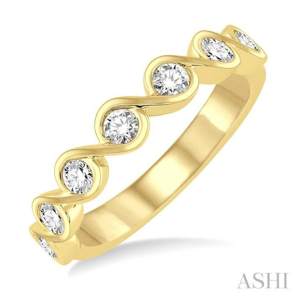 1/2 Ctw Round Cut Diamond Stack Band in 14K Yellow Gold Trinity Diamonds Inc. Tucson, AZ