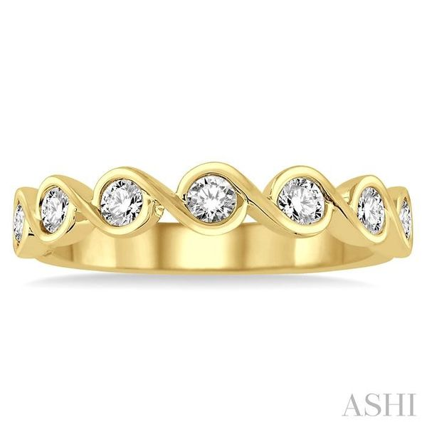 1/2 Ctw Round Cut Diamond Stack Band in 14K Yellow Gold Image 2 Trinity Diamonds Inc. Tucson, AZ