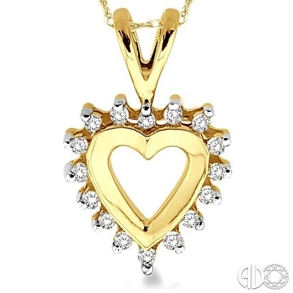 1/10 Ctw Single Cut Diamond Heart Pendant in 10K Yellow Gold with Chain Image 3 Trinity Diamonds Inc. Tucson, AZ