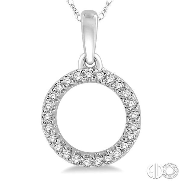 1/10 Ctw Hollow Cut Circle Round Cut Diamond Pendant in 10K White Gold Image 3 Trinity Diamonds Inc. Tucson, AZ
