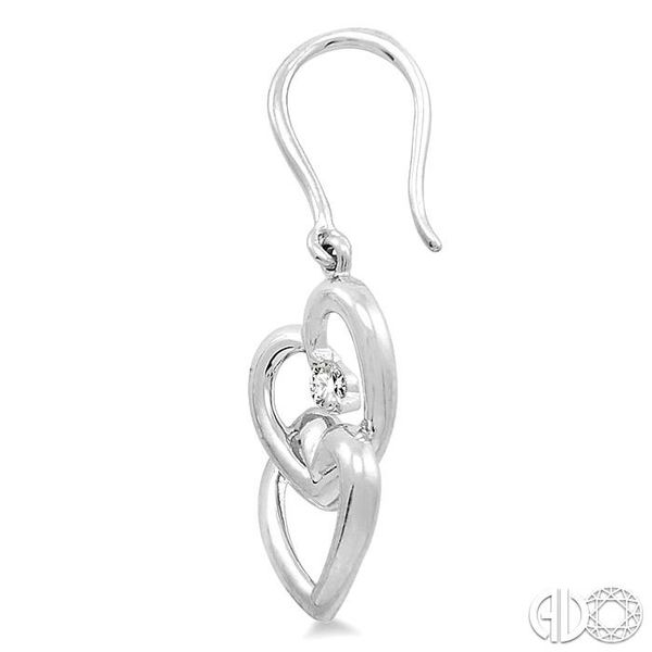 1/10 Ctw Round Cut Diamond Earrings in 14K White Gold Image 3 Trinity Diamonds Inc. Tucson, AZ