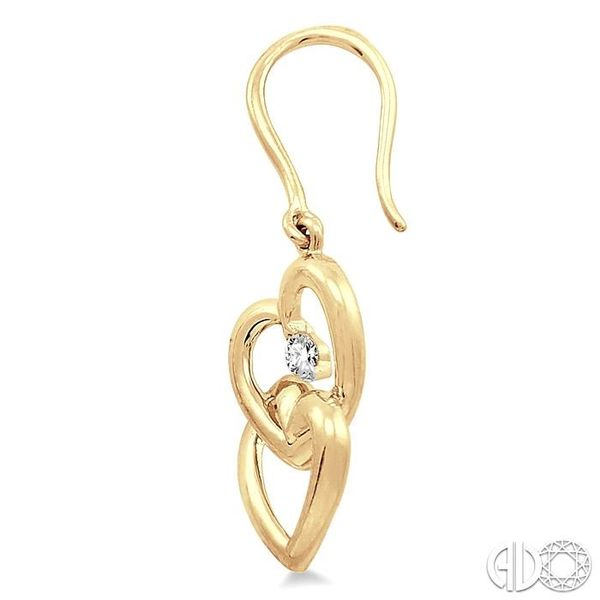 1/10 Ctw Round Cut Diamond Earrings in 10K Yellow Gold Image 3 Trinity Diamonds Inc. Tucson, AZ