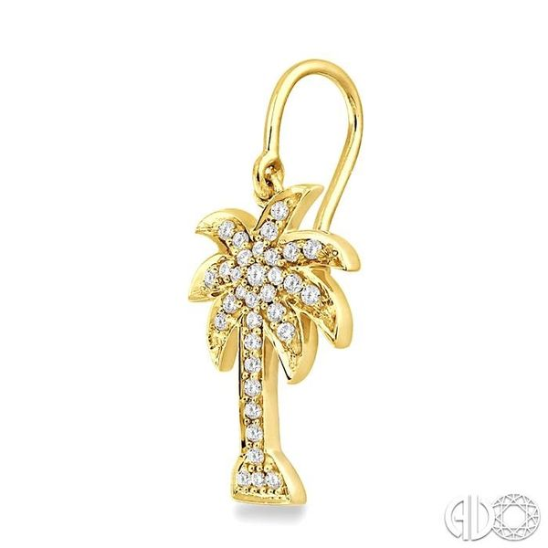 1/2 Ctw Round Cut Diamond Palm Tree Earrings in 14K Yellow Gold Image 3 Trinity Diamonds Inc. Tucson, AZ