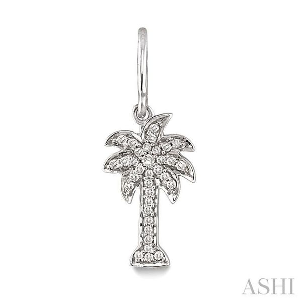 1/4 Ctw Palm Tree Single Cut Diamond Earrings in 10K White Gold Image 2 Trinity Diamonds Inc. Tucson, AZ