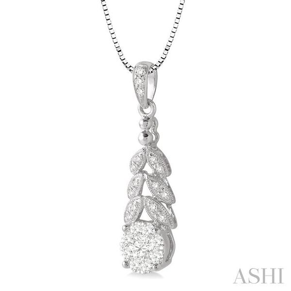 3/8 Ctw Lovebright Round Cut Diamond Pendant in 14K White Gold with Chain Image 2 Trinity Diamonds Inc. Tucson, AZ