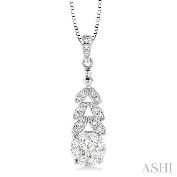 3/8 Ctw Lovebright Round Cut Diamond Pendant in 14K White Gold with Chain Trinity Diamonds Inc. Tucson, AZ