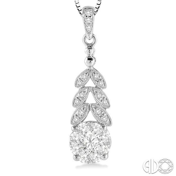 3/8 Ctw Lovebright Round Cut Diamond Pendant in 14K White Gold with Chain Image 3 Trinity Diamonds Inc. Tucson, AZ