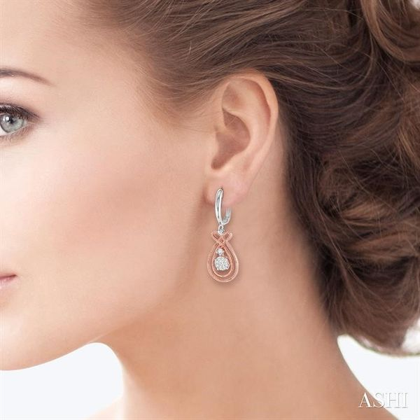 1/3 Ctw Lovebright Round Cut Diamond Earrings in 14K Rose and White Gold Image 4 Trinity Diamonds Inc. Tucson, AZ