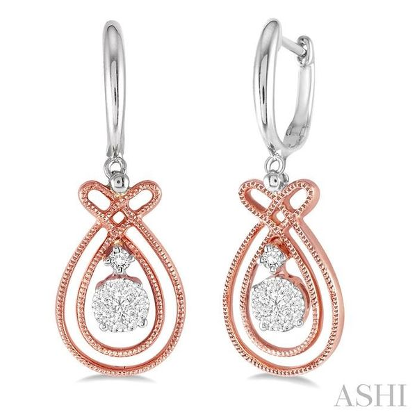 1/3 Ctw Lovebright Round Cut Diamond Earrings in 14K Rose and White Gold Trinity Diamonds Inc. Tucson, AZ