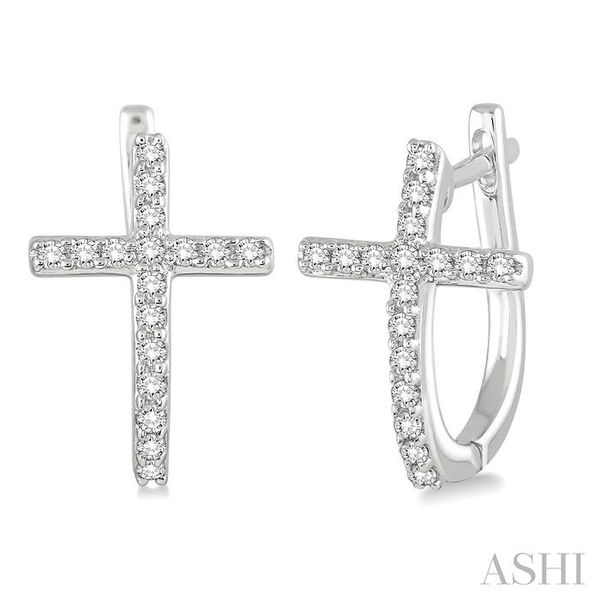 1/4 Ctw Round Cut Diamond Cross Earrings in 14K White Gold Trinity Diamonds Inc. Tucson, AZ