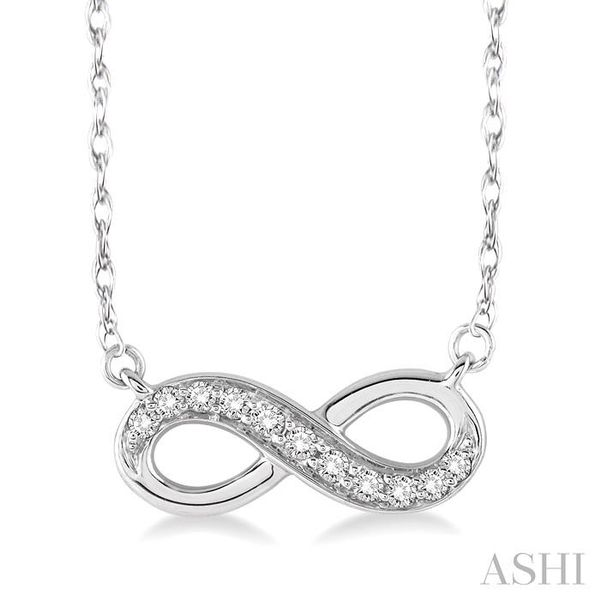 1/6 Ctw Round Cut Diamond Infinity Pendant in 14K White Gold with Chain Trinity Diamonds Inc. Tucson, AZ