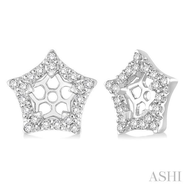 1/4 Ctw Round Cut Diamond Jacket Earrings in 14K White Gold Trinity Diamonds Inc. Tucson, AZ