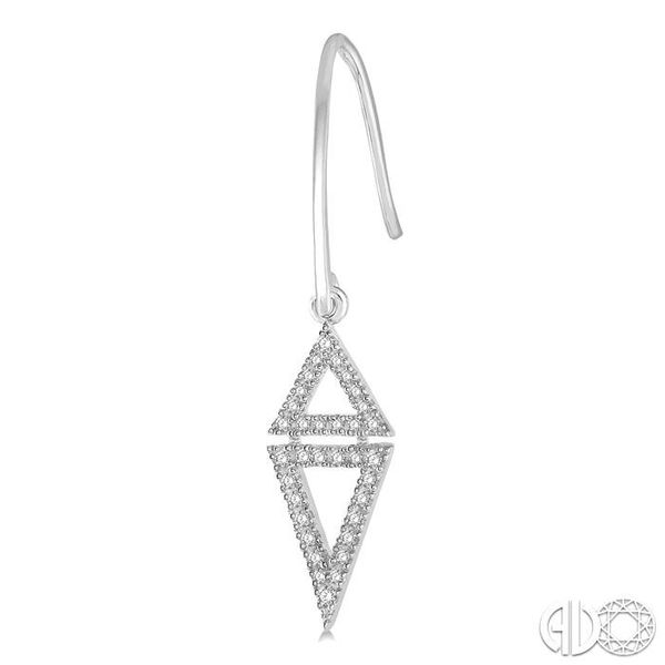 1/4 Ctw Reversed Double Triangle Round Cut Diamond Earrings in 14K White Gold Image 3 Trinity Diamonds Inc. Tucson, AZ