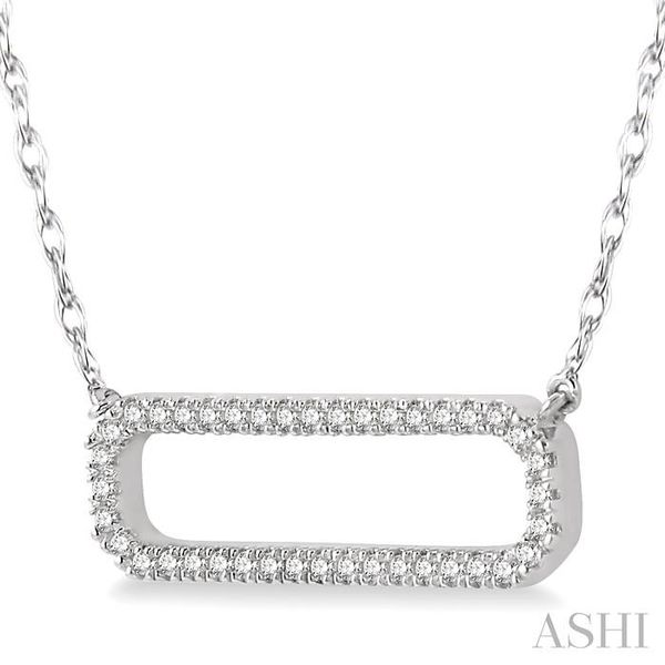 1/6 Ctw Round Cut Diamond Rounded Rectangle Necklace in 10K White Gold Image 2 Trinity Diamonds Inc. Tucson, AZ